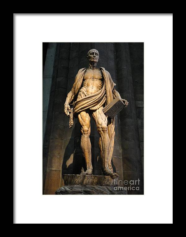 St. Bartholomew Framed Print featuring the photograph St. Bartholomew In Milan Cathedral By Marco D'agrate by Gregory Dyer