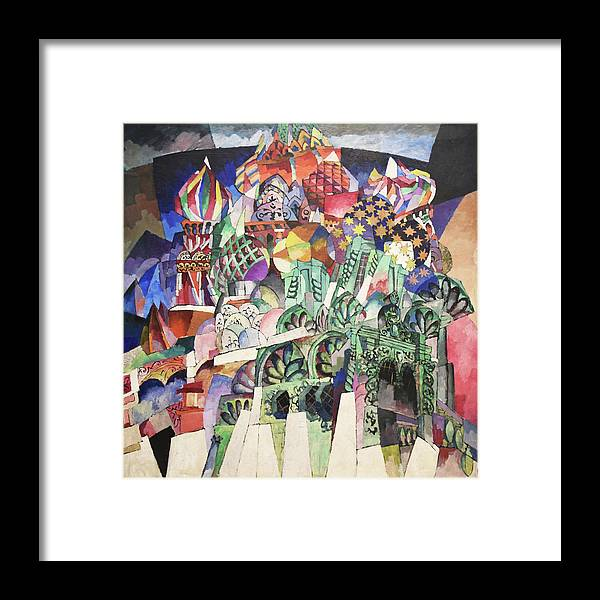 Russian Cubism Framed Print featuring the painting St. Basil's Cathedral by Aristarkh Lentulov