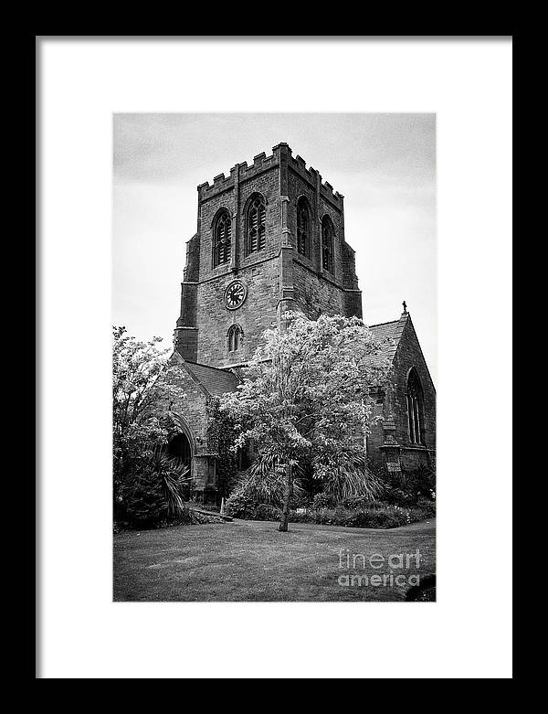 Whitehaven Framed Print featuring the photograph St Nicholas Church Including Graveyard Containing Grave Of Mildred Washington Grandmother Of George by Joe Fox