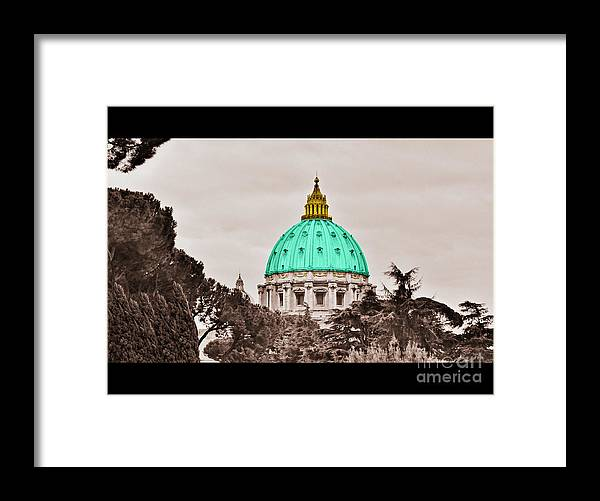 Saint Framed Print featuring the photograph St. Peters Basilica by Eric Liller
