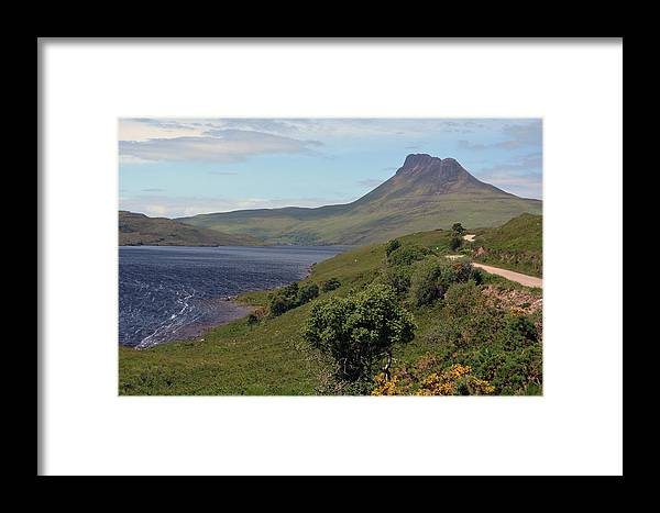 Loch Framed Print featuring the photograph Stac Pollaidh by Steve Watson
