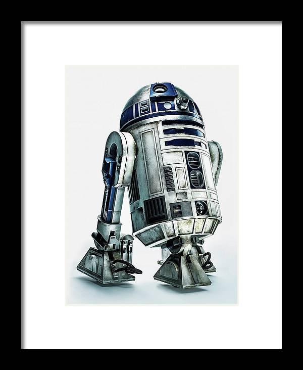 Star Wars Framed Print featuring the digital art Star Wars Episode Vii - The Force Awakens 2015 by Geek N Rock
