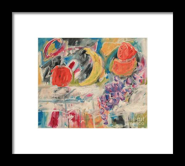 Stil Life Framed Print featuring the painting Still Life With Fruit by Michael Henderson