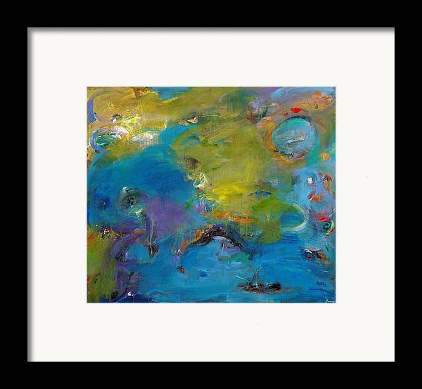 Abstract Expressionistic Framed Print featuring the painting Still Waters Run Deep by Johnathan Harris