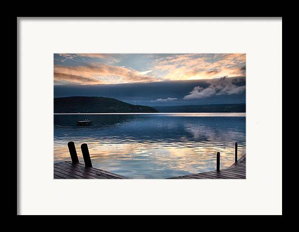 Keuka Lake Framed Print featuring the photograph Storm Clearing by Steven Ainsworth