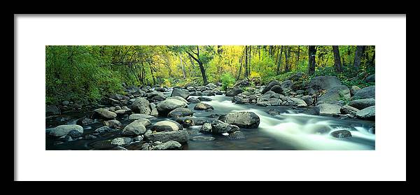 Photography Framed Print featuring the photograph Stream In Cottonwood Canyon, Sedona by Panoramic Images