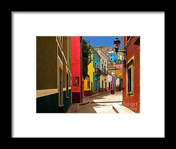Darian Day Framed Print featuring the photograph Street Of Color Guanajuato 2 by Mexicolors Art Photography