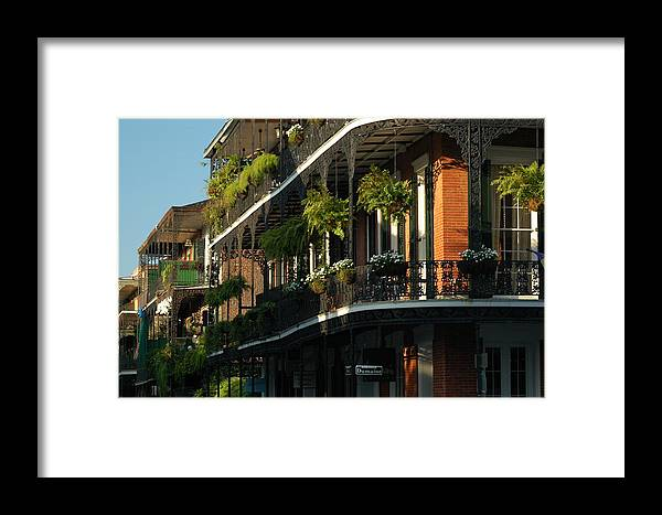 New Orleans Framed Print featuring the photograph Streets Of New Orleans by Lori Mellen-Pagliaro