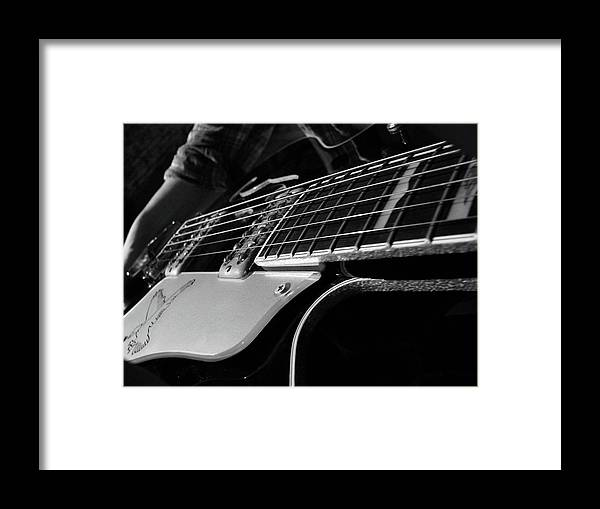 Black Framed Print featuring the photograph Strings by Angela Wright