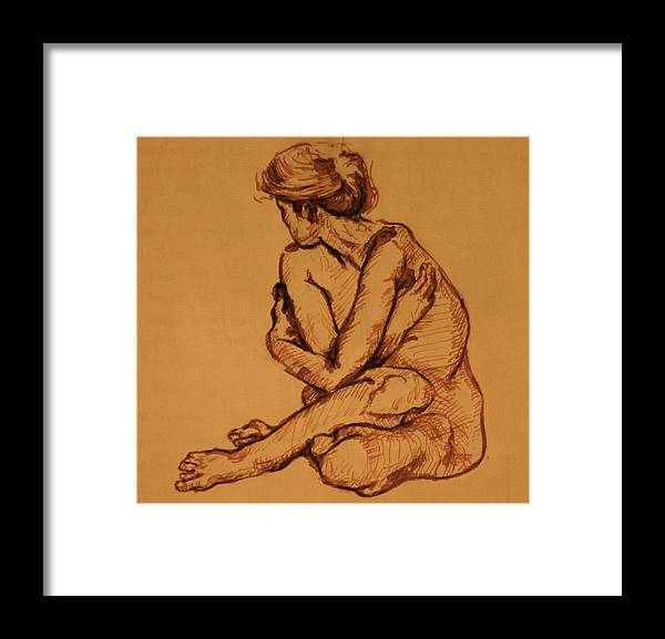 Sketcht Framed Print featuring the painting Studio Sketch by Dan Earle