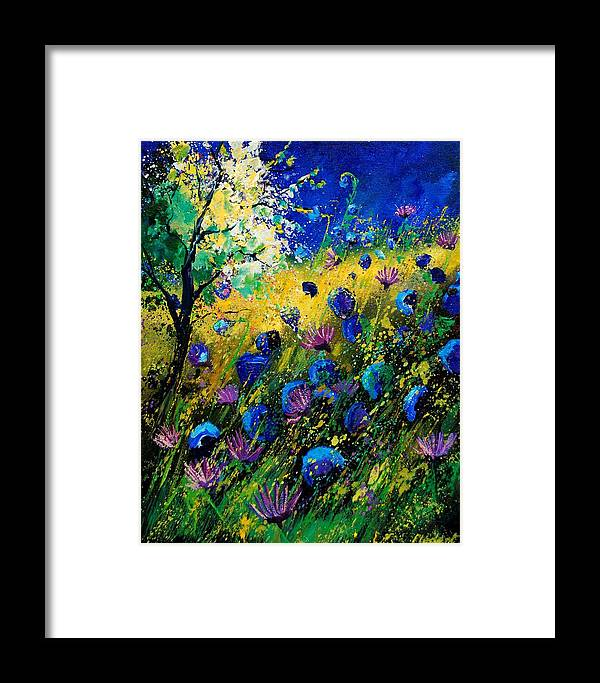 Poppies Framed Print featuring the painting Summer 450208 by Pol Ledent