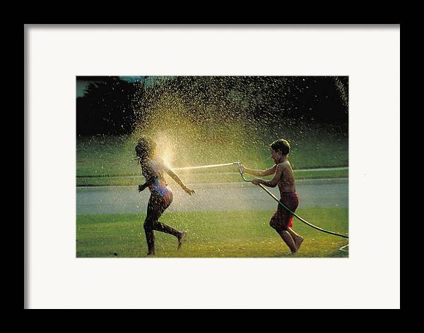 Hose Framed Print featuring the photograph Summer Fun by Carl Purcell