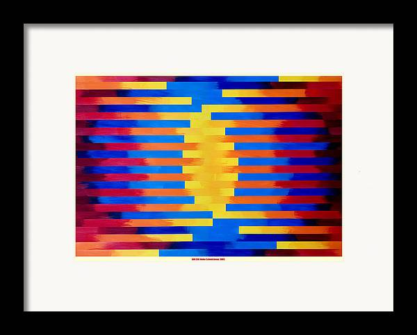 Collage Framed Print featuring the mixed media Sun Egg by Heike Schenk-Arena