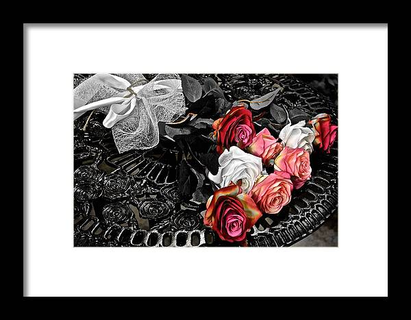 Bouquet Framed Print featuring the photograph Sundial Bouquet by Frozen in Time Fine Art Photography