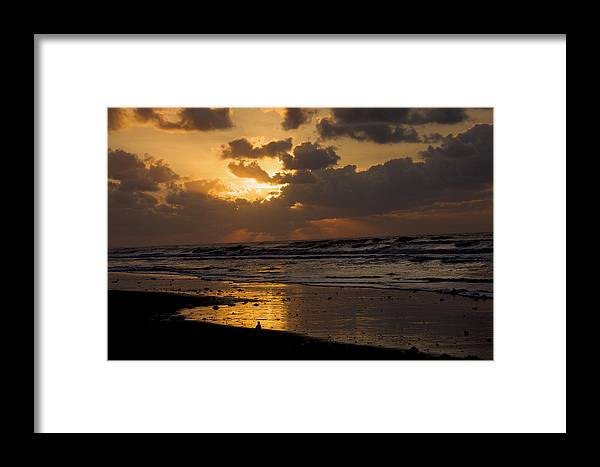 Sunrise Framed Print featuring the photograph Sunrise Before The Storm by Bonnes Eyes Fine Art Photography