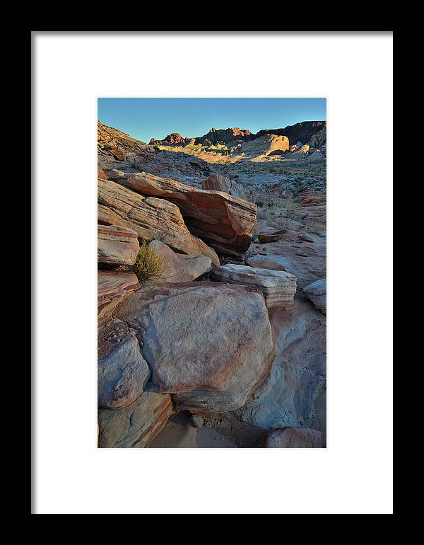 Valley Of Fire State Park Framed Print featuring the photograph Sunset Comes To Valley Of Fire by Ray Mathis