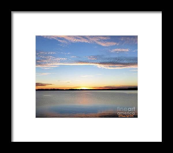 Landscape Framed Print featuring the photograph Sunset On Delta Lake by Rennae Christman