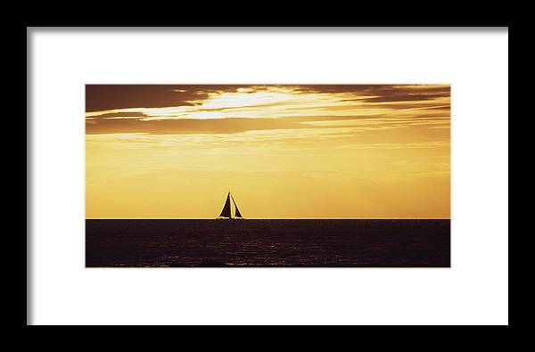 Sunset Framed Print featuring the photograph Sunset Sail by Mike Bambridge