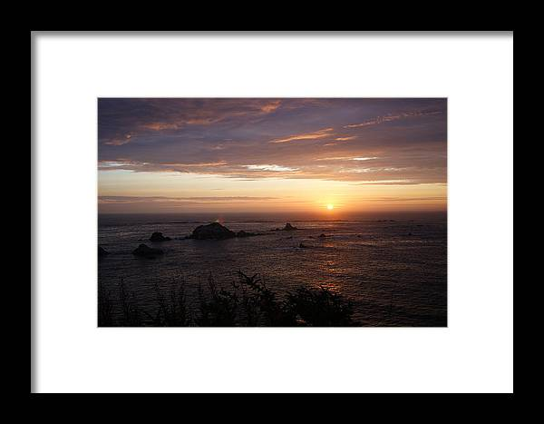 Clouds Framed Print featuring the photograph Sunset Watch by Beth Collins