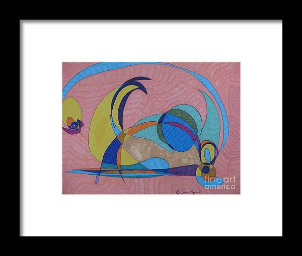 Abstract Framed Print featuring the mixed media Susan's Prism by James Sheppardiii