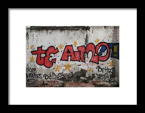 Ecuador Framed Print featuring the photograph Te Amo by Alisha Robertson