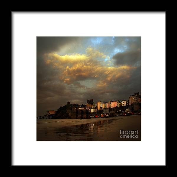 Tenby Framed Print featuring the photograph Tenby by Angel Ciesniarska