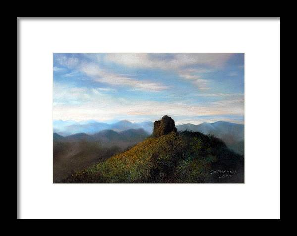 Thai Framed Print featuring the painting Thai Landscape by Chonkhet Phanwichien