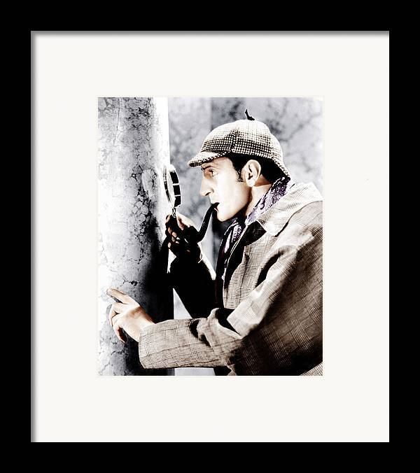 1930s Movies Framed Print featuring the photograph The Adventures Of Sherlock Holmes by Everett