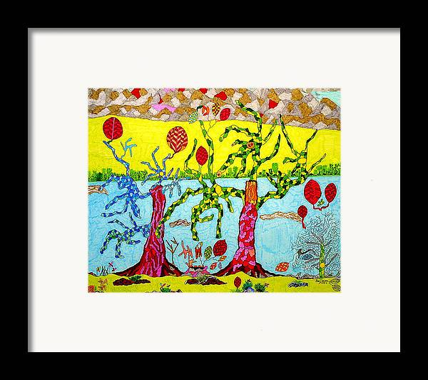 Fantasy Framed Print featuring the drawing The Beginning Of Time by Eric Devan