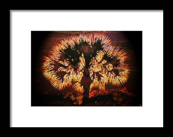 Art Framed Print featuring the painting The Burning Bush by David Lee Thompson