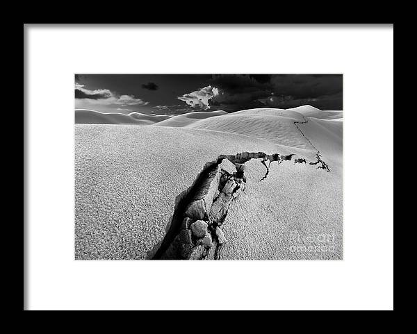 Crack Framed Print featuring the photograph The Crack of Dawn by Julian Cook
