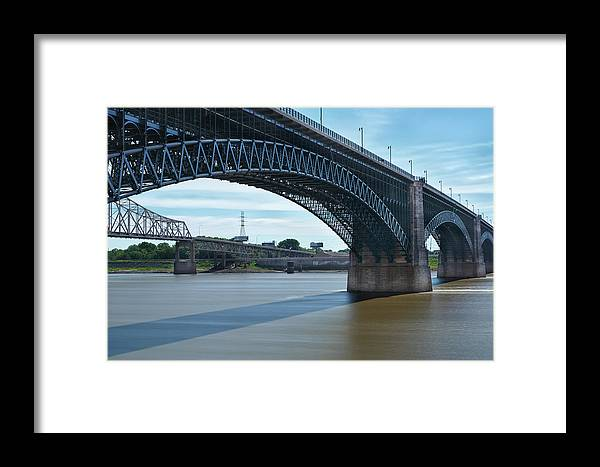 Eads Bridge Framed Print featuring the photograph The Eads Bridge by Emil Davidzuk