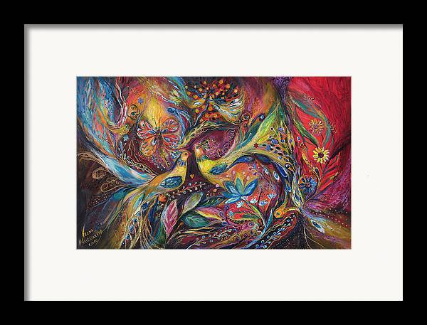 Original Framed Print featuring the painting The Elegy by Elena Kotliarker