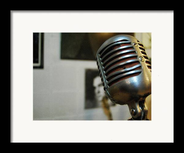 Elvis Framed Print featuring the photograph The Elvis Mic by JAMART Photography
