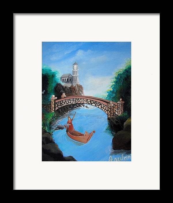 Figure Framed Print featuring the painting The Escape by Glory Fraulein Wolfe