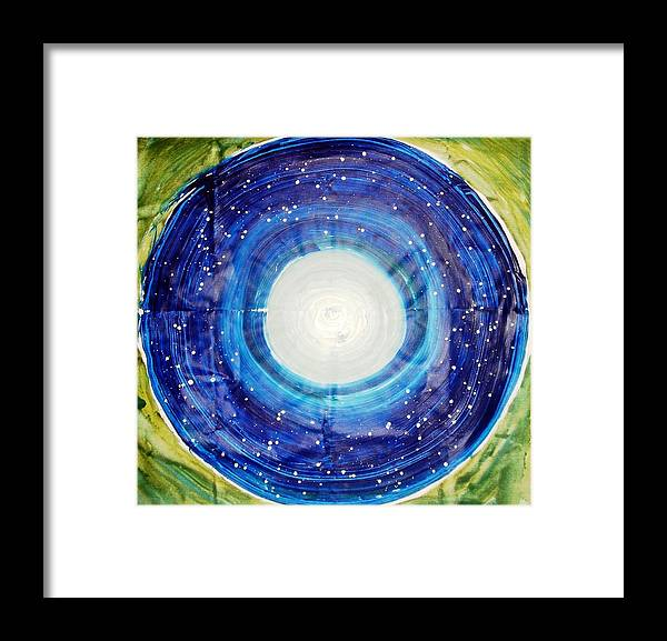 Circle Abstract Framed Print featuring the painting The Eternal Circle by Baljit Chadha