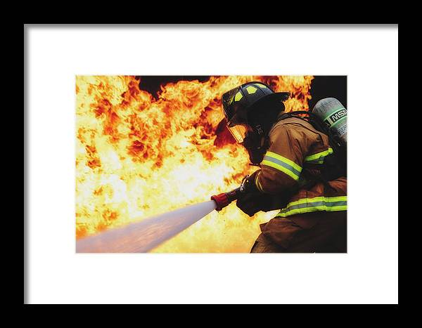 Usaf Framed Print featuring the photograph The Good Fight by U S A F