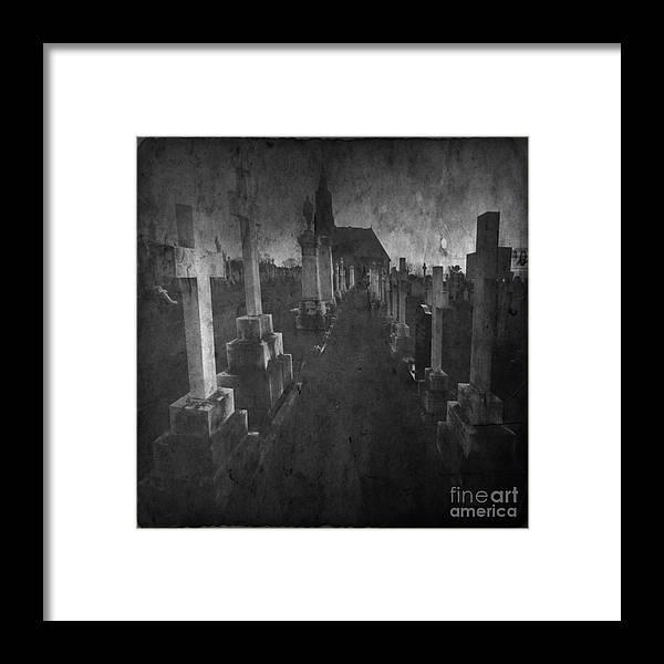 Graveyard Framed Print featuring the photograph The Graveyard by Angel Ciesniarska