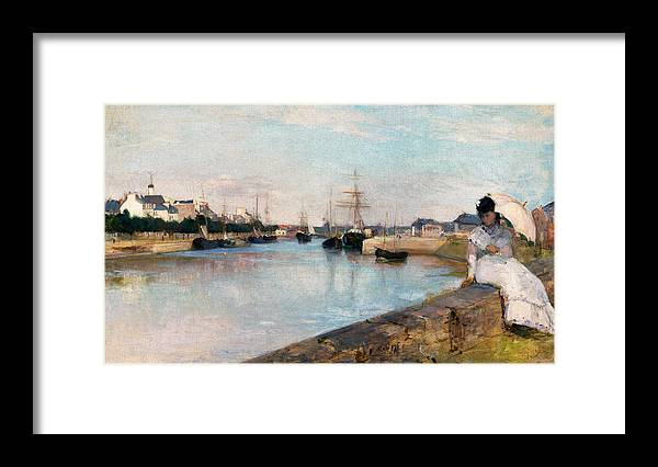 Female Artist Framed Print featuring the painting The Harbor At Lorient by Berthe Morisot