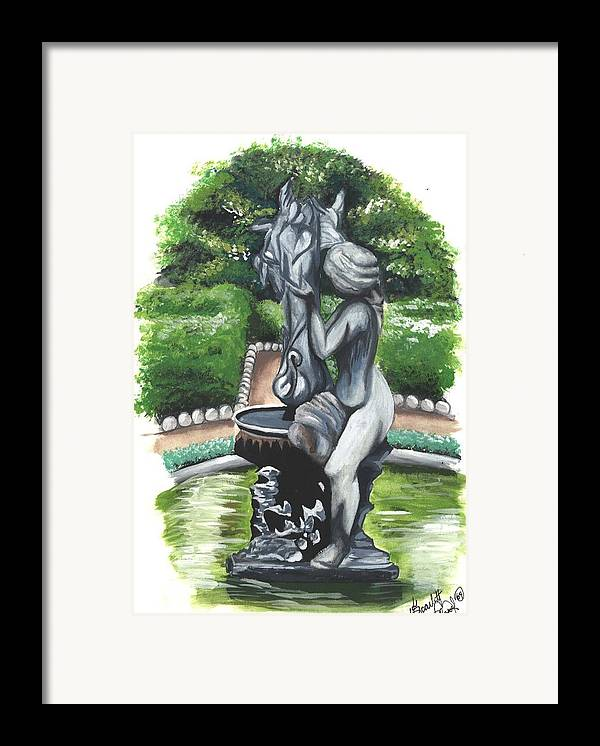 Fountain Framed Print featuring the painting The Hidden Fountain by Scarlett Royal