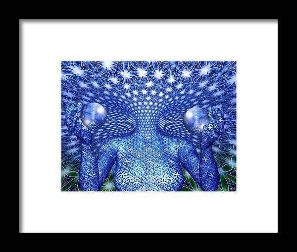 Duality Framed Print featuring the painting The Invention of Duality by Robby Donaghey
