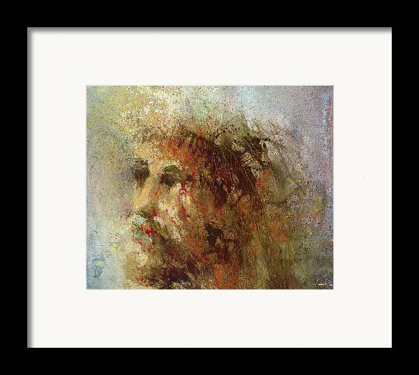 Religious Framed Print featuring the painting The Lamb by Andrew King