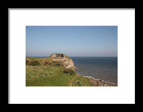 Cliffs Framed Print featuring the photograph The Little Orme by Christopher Rowlands