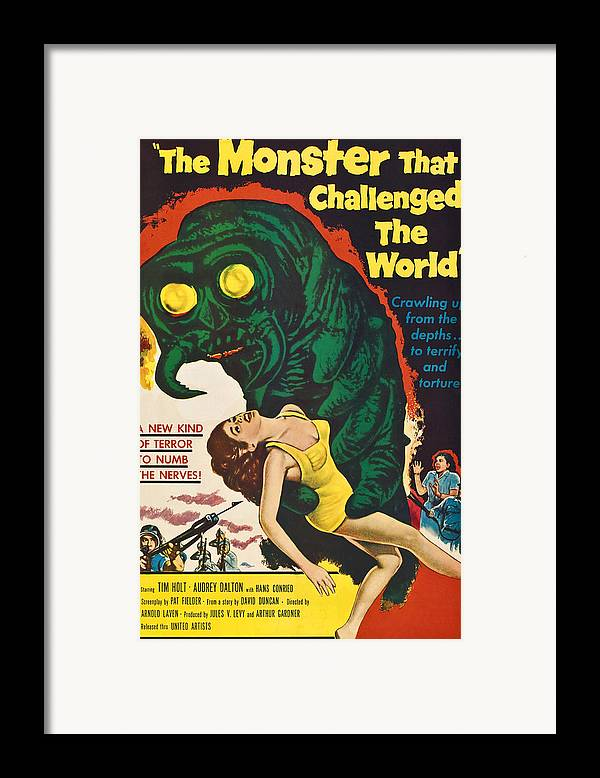 1950s Poster Art Framed Print featuring the photograph The Monster That Challenged The World by Everett