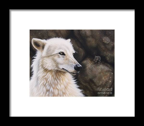 Acrylic Framed Print featuring the painting The Mouse by Sandi Baker