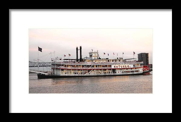The New Orleans Natchez Framed Print featuring the photograph The Natchez by Alicia Morales