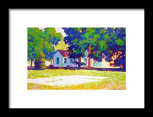 City Framed Print featuring the painting The Old Slab by Kevin Lawrence Leveque