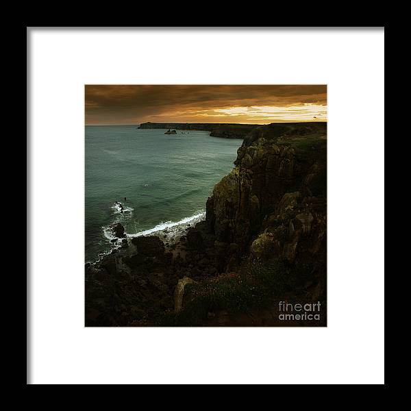 Cliff Framed Print featuring the photograph The Pembrokeshire Cliffs by Angel Ciesniarska