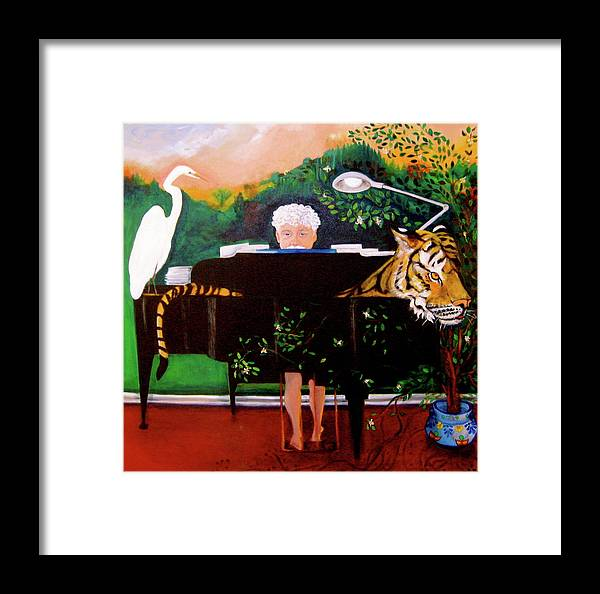 Pianist Framed Print featuring the painting The Pianist by Holly Sedgwick