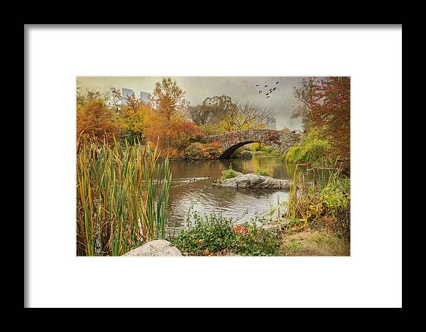 Central Park Framed Print featuring the photograph The Pond by June Marie Sobrito